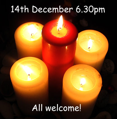 Carols by Candlelight service 14th December 6.30pm (109K)